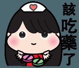 Girl in red dress sticker #12553468