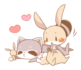 LOVE!Raccoons&Rabbit5 sticker #12554766