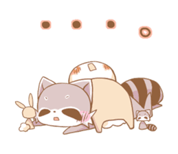 LOVE!Raccoons&Rabbit5 sticker #12554767