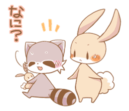 LOVE!Raccoons&Rabbit5 sticker #12554775