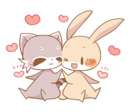 LOVE!Raccoons&Rabbit5 sticker #12554784