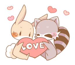 LOVE!Raccoons&Rabbit5 sticker #12554785