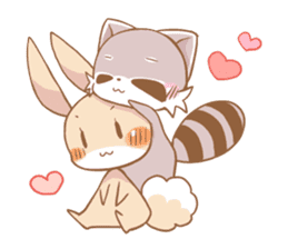 LOVE!Raccoons&Rabbit5 sticker #12554786