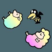 สติ๊กเกอร์ไลน์ Animated Stickers of The sheep