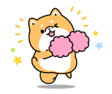 Animation of cute Shiba Inu sticker #12562039