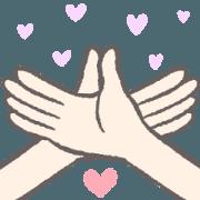 สติ๊กเกอร์ไลน์ Simple and convenient hand sign(move)