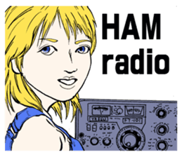 YL HAM radio sticker #12563089
