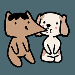 สติ๊กเกอร์ไลน์ Puppy and Catty