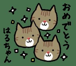 Haruchan cat sticker #12565785
