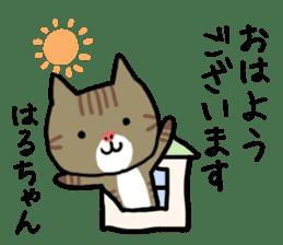 Haruchan cat sticker #12565787