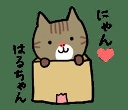 Haruchan cat sticker #12565809
