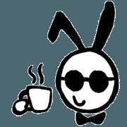 สติ๊กเกอร์ไลน์ sunglass rabbit Mr.Sun (animation no.1)