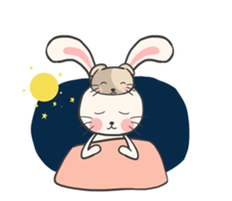 Rabbit and Cat in Love. + sticker #12587249