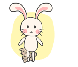Rabbit and Cat in Love. + sticker #12587253