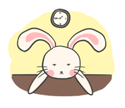 Rabbit and Cat in Love. + sticker #12587264