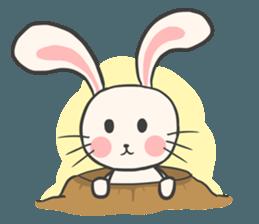 Rabbit and Cat in Love. + sticker #12587274