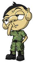 Nose's Military Life sticker #12598528
