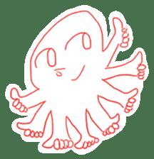 Eight thumbs up Octopus sticker #12598918
