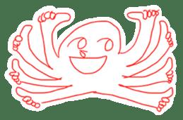 Eight thumbs up Octopus sticker #12598922