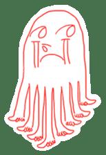 Eight thumbs up Octopus sticker #12598923