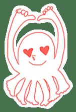 Eight thumbs up Octopus sticker #12598926