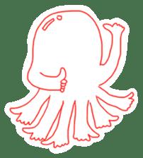 Eight thumbs up Octopus sticker #12598927