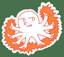 Eight thumbs up Octopus sticker #12598928