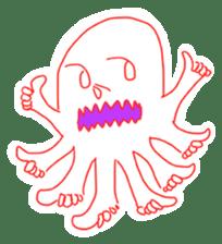 Eight thumbs up Octopus sticker #12598933