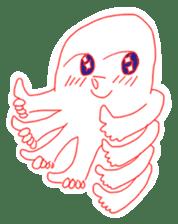 Eight thumbs up Octopus sticker #12598935