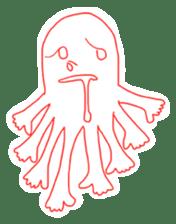Eight thumbs up Octopus sticker #12598939