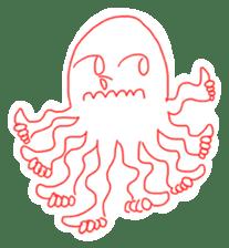 Eight thumbs up Octopus sticker #12598940