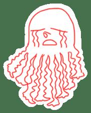 Eight thumbs up Octopus sticker #12598943