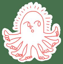 Eight thumbs up Octopus sticker #12598944