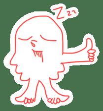 Eight thumbs up Octopus sticker #12598945