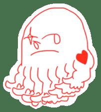 Eight thumbs up Octopus sticker #12598955