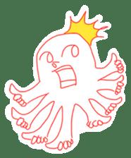 Eight thumbs up Octopus sticker #12598957