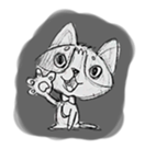 Cute cats in sketches (N.1) by trikono sticker #12602478
