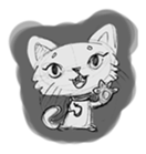 Cute cats in sketches (N.1) by trikono sticker #12602479