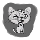 Cute cats in sketches (N.1) by trikono sticker #12602480