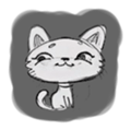 Cute cats in sketches (N.1) by trikono sticker #12602483