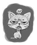 Cute cats in sketches (N.1) by trikono sticker #12602484