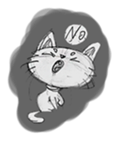 Cute cats in sketches (N.1) by trikono sticker #12602485