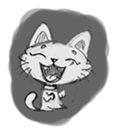 Cute cats in sketches (N.1) by trikono sticker #12602489