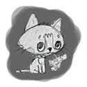 Cute cats in sketches (N.1) by trikono sticker #12602490