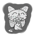 Cute cats in sketches (N.1) by trikono sticker #12602491