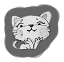 Cute cats in sketches (N.1) by trikono sticker #12602493