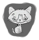 Cute cats in sketches (N.1) by trikono sticker #12602496