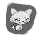 Cute cats in sketches (N.1) by trikono sticker #12602497
