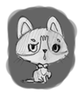 Cute cats in sketches (N.1) by trikono sticker #12602498