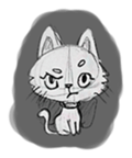 Cute cats in sketches (N.1) by trikono sticker #12602499